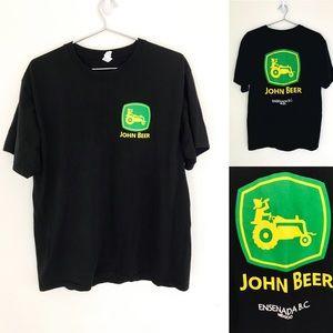 Other - 🔥John Beer parody John deer shirt large black